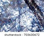 geometric low polygonal... | Shutterstock .eps vector #703630672