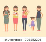 set of characters in a flat... | Shutterstock .eps vector #703652206