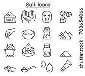 salt icon set in thin line style | Shutterstock .eps vector #703654066