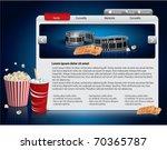 webdesign template   movie theme