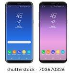 smartphone  mobile phone... | Shutterstock .eps vector #703670326