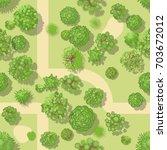 seamless pattern. forest top... | Shutterstock .eps vector #703672012