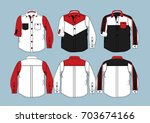 long sleeve shirts 3 | Shutterstock .eps vector #703674166