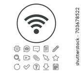 wifi sign. wi fi symbol....