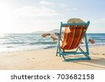 travel vacation woman relaxing  ... | Shutterstock . vector #703682158