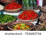 tropical spices and fruits sold ... | Shutterstock . vector #703683736