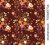 cute floral pattern in the... | Shutterstock .eps vector #703685716