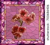vector mosaic of pink cherry... | Shutterstock .eps vector #703686406