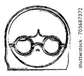 glasses accessory design | Shutterstock .eps vector #703687372