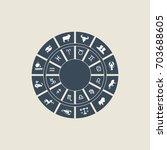horoscope wheel of zodiac signs ... | Shutterstock .eps vector #703688605