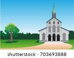church icon. vector... | Shutterstock .eps vector #703693888