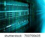blade storage supercomputer of... | Shutterstock . vector #703700635