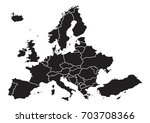 high detailed map euorpe on... | Shutterstock .eps vector #703708366