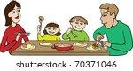 family dinner | Shutterstock .eps vector #70371046