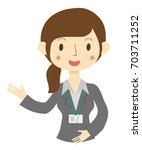 a woman in a suit   Shutterstock .eps vector #703711252