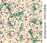 seamless pattern in tropical... | Shutterstock . vector #703712836