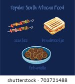 popular south african food pack ...   Shutterstock .eps vector #703721488