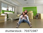 girl and mom pretending to... | Shutterstock . vector #70372387