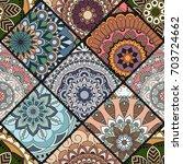 seamless pattern. vintage... | Shutterstock .eps vector #703724662