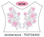 decorative rose flowers in...   Shutterstock .eps vector #703726342