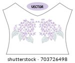decorative lilac flowers in...   Shutterstock .eps vector #703726498