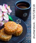 moon cake for mid autumn day | Shutterstock . vector #703728118