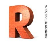 Letter R From Redwood Alphabet. ...