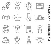 simple set of awards related... | Shutterstock .eps vector #703729516