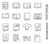 simple set of book related...   Shutterstock .eps vector #703729528