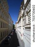 narrow street in prague  czech... | Shutterstock . vector #703730602