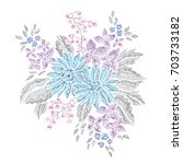 elegant bouquet with abstract...   Shutterstock .eps vector #703733182
