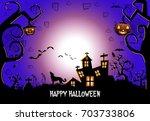 halloween background . vector... | Shutterstock .eps vector #703733806
