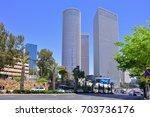 tel aviv  israel   april  2017  ... | Shutterstock . vector #703736176