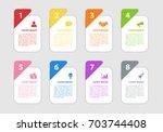 infographic design business... | Shutterstock .eps vector #703744408