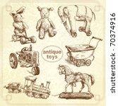 antique toys original hand... | Shutterstock .eps vector #70374916
