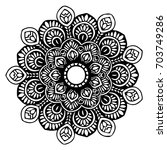 mandalas for coloring book.... | Shutterstock .eps vector #703749286