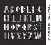 latin alphabet vector ... | Shutterstock .eps vector #703749652