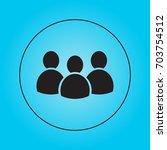 people   vector icon  flat... | Shutterstock .eps vector #703754512