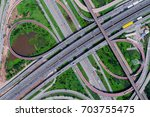 elevated expressway. the curve...   Shutterstock . vector #703755475