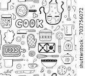 hand drawn doodle seamless... | Shutterstock .eps vector #703756072