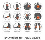 body pain icon set vector  ...   Shutterstock .eps vector #703768396
