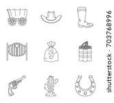 sheriff element icon set....   Shutterstock .eps vector #703768996