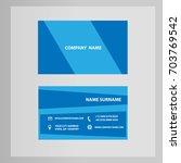 business card technology blue... | Shutterstock .eps vector #703769542