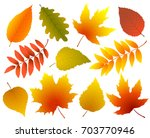 art set of colorful isolated... | Shutterstock .eps vector #703770946