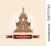 welcome to thailand.... | Shutterstock .eps vector #703771762