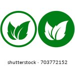 two abstract eco icons with... | Shutterstock . vector #703772152