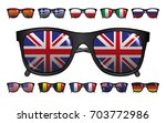 icons set of sunglasses with... | Shutterstock .eps vector #703772986