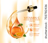 orange fruit vitamin serum... | Shutterstock .eps vector #703782436