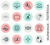 management icons set....   Shutterstock .eps vector #703785316