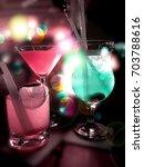party drinks | Shutterstock . vector #703788616